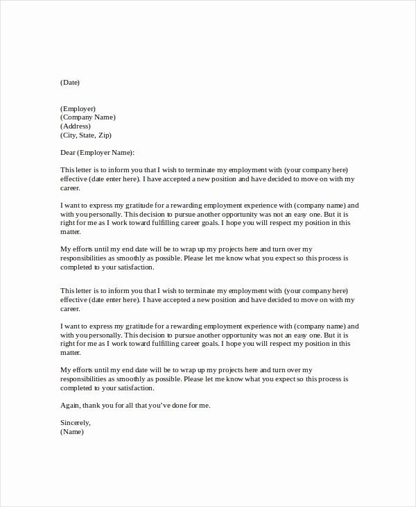 Asu Letter Of Recommendation New Letter Of Resignation Template 17 Free Word Pdf