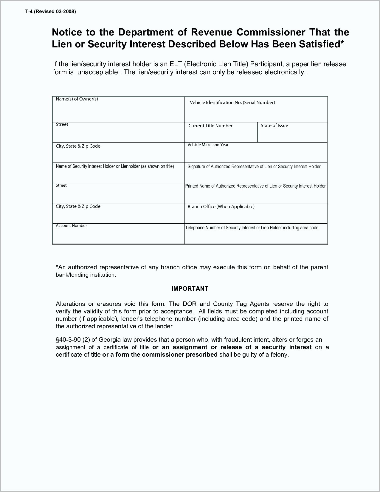 Auto Lien Release Letter Template Awesome Intent to Lien Letter Template Texas Samples