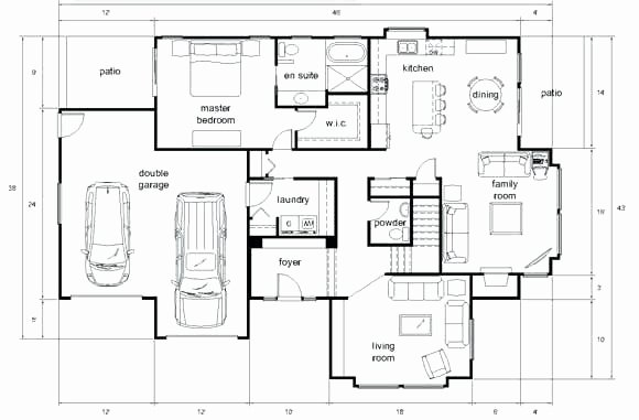 Autocad Floor Plan Template Luxury Floor Plan Sample House Plans Architectural D Drawings How