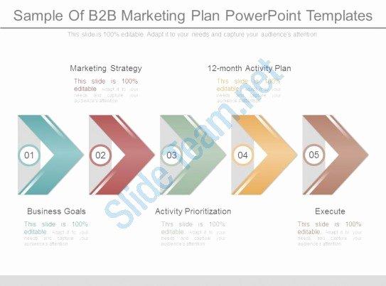 B2b Marketing Plan Template Beautiful Sample B2b Marketing Plan Powerpoint Templates