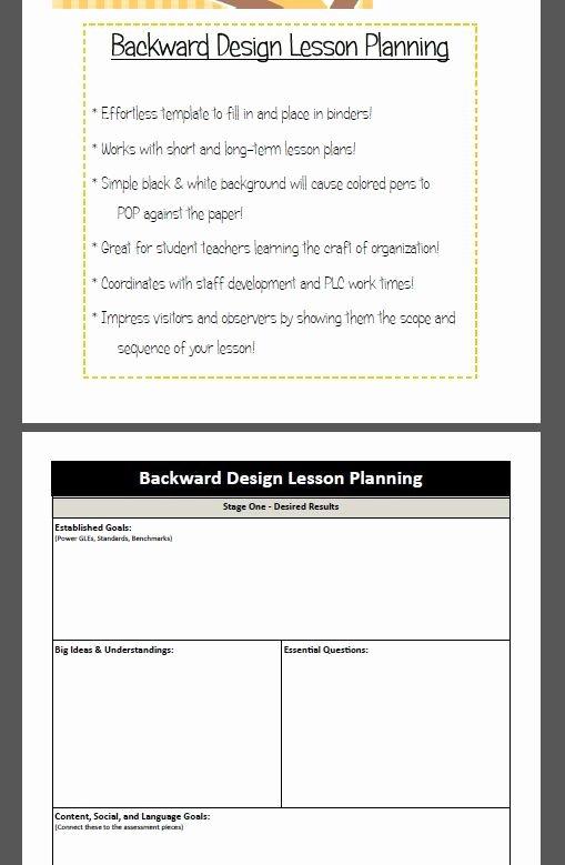 Backward Design Lesson Plan Template Inspirational Backward Design Lesson Plan Template