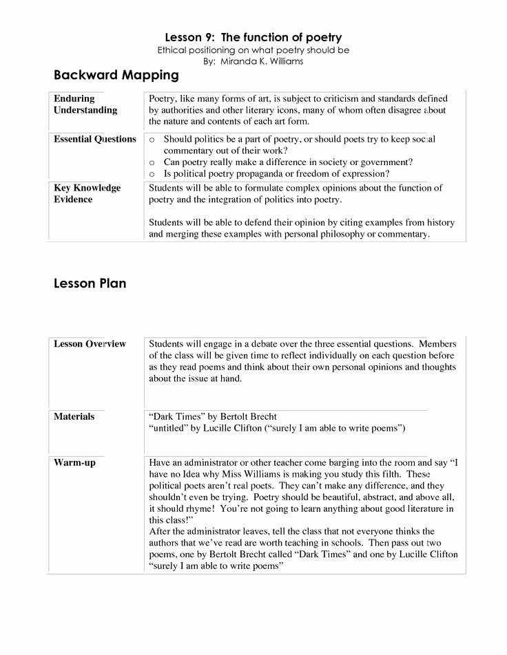 Backward Design Lesson Plan Template New 1000 Images About Lessons On Pinterest