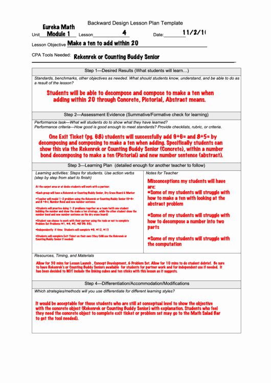 Backwards Design Lesson Plan Template Beautiful Backward Design Lesson Plan Template Printable Pdf
