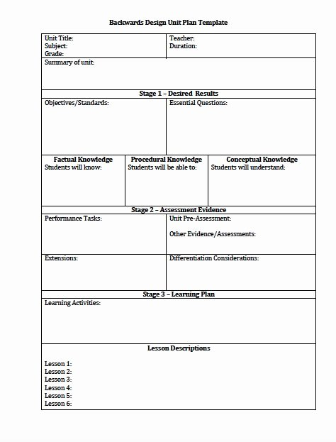 Backwards Design Lesson Plan Template Lovely Best 25 Unit Plan Template Ideas On Pinterest