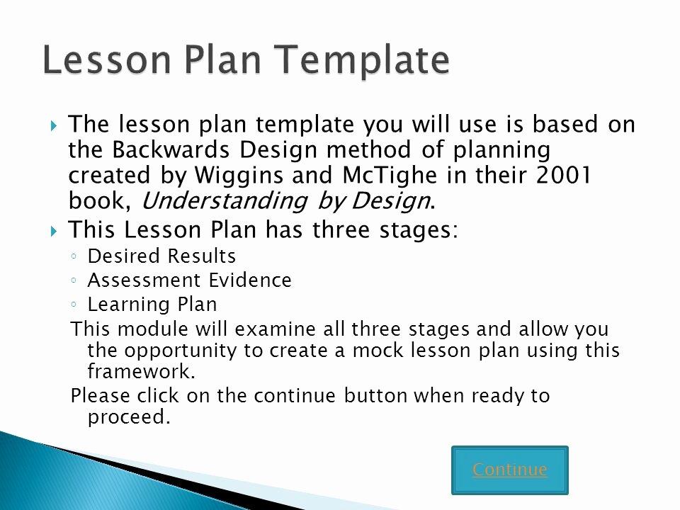 Backwards Design Lesson Plan Template Unique Writing Lesson Plans Using the Backward Design Template