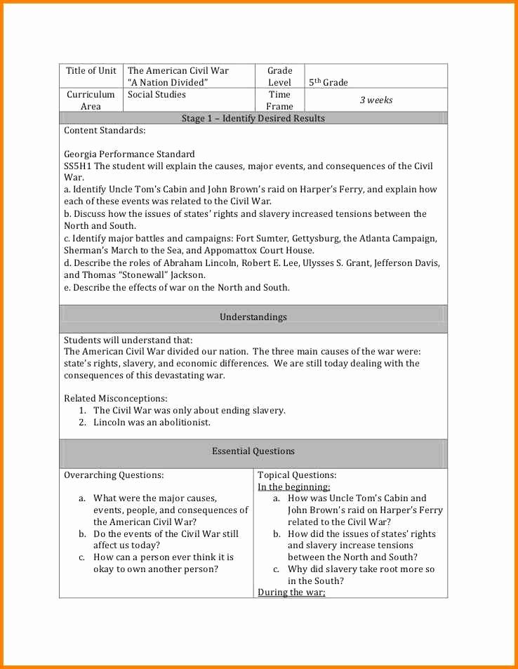Backwards Design Unit Plan Template Beautiful 15 Backwards Design Lesson Plan Examples