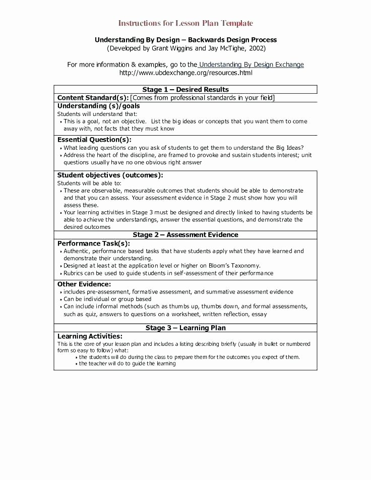 Backwards Design Unit Plan Template Fresh Backward Design Lesson Plans Elementary Unit Plan and