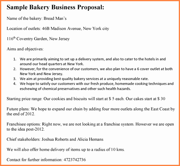 Bakery Business Plan Template Awesome 8 Bakery Business Proposal