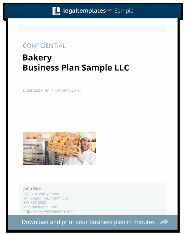 Bakery Business Plan Template Inspirational Bakery Business Plan Sample