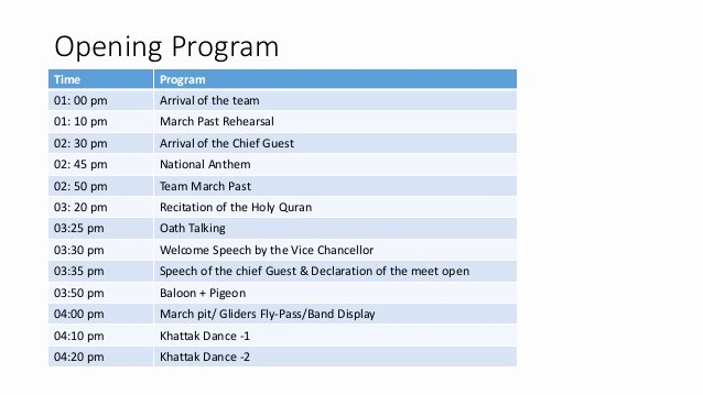 Band Rehearsal Plan Template Fresh event Management 2nd Lecture In Sports Facilities