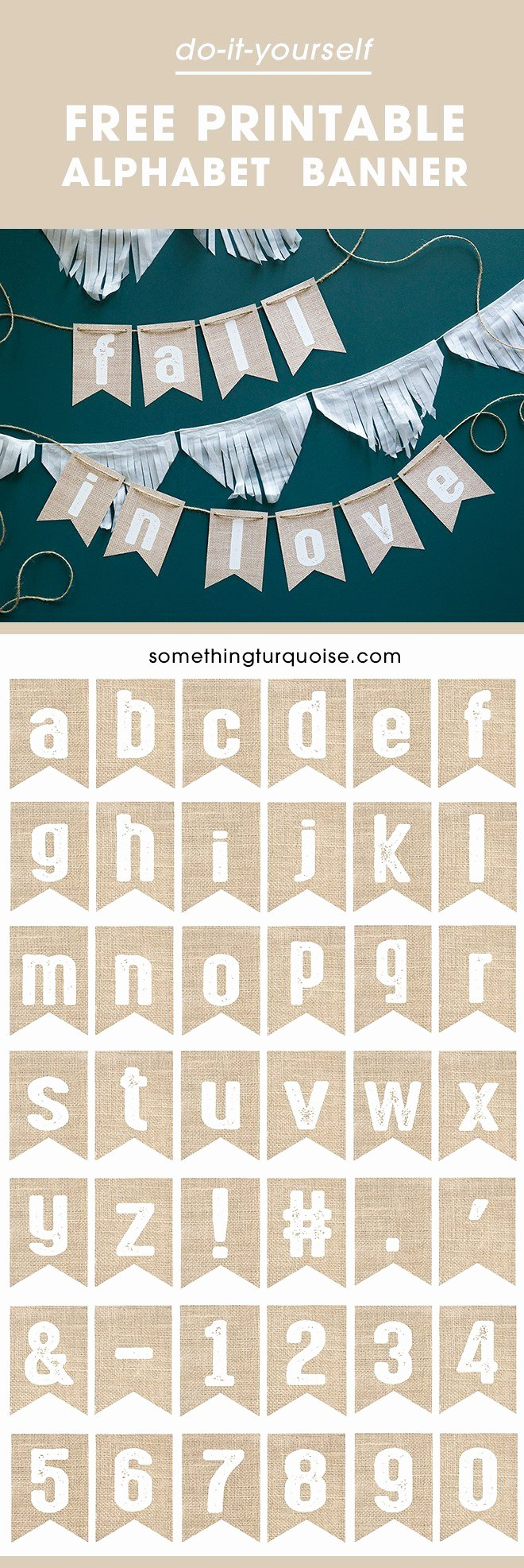 Banner Letters and Numbers Templates Awesome Check Out This Darling Free Printable Burlap Alphabet Banner
