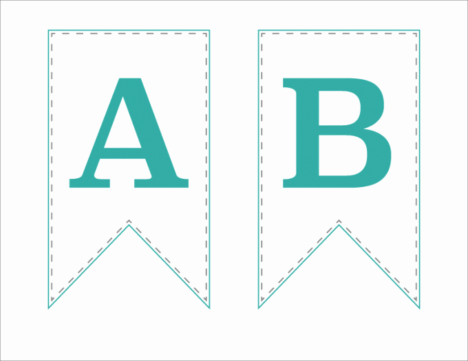 Banner Letters and Numbers Templates Beautiful Free Printable Bunting Banner Just A Girl and Her Blog