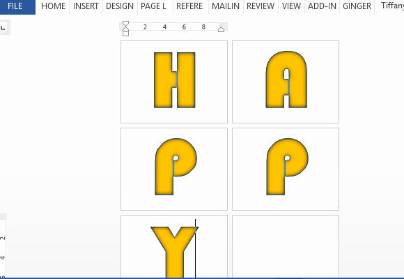 Banner Letters and Numbers Templates Inspirational Banner Letters & Numbers Template for Word