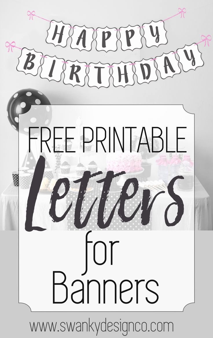 Banner Letters and Numbers Templates Inspirational Best 25 Printable Letters Free Ideas On Pinterest