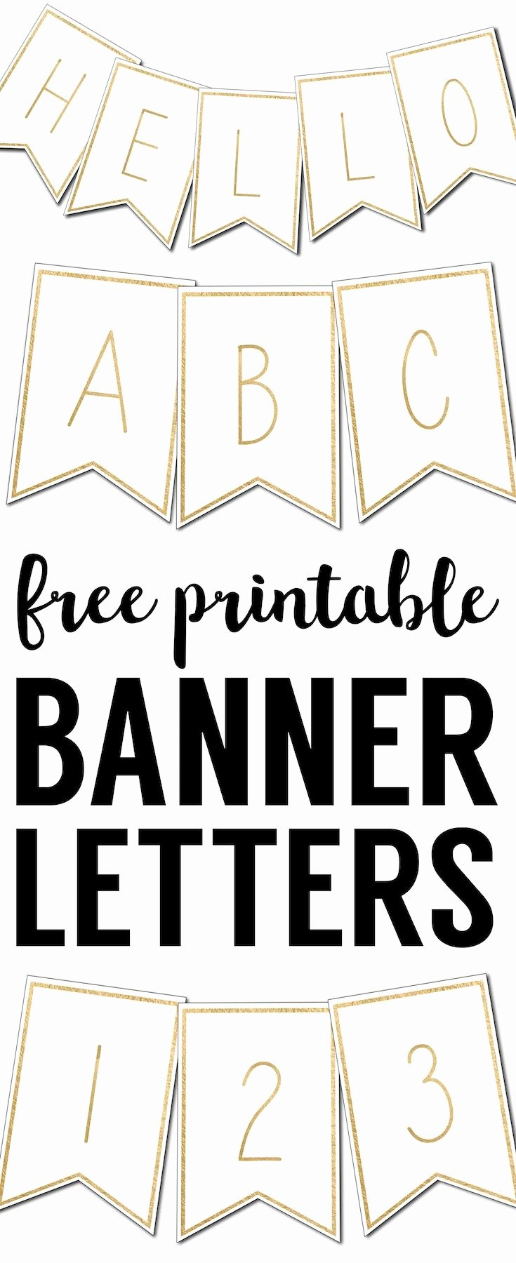 Banner Letters and Numbers Templates Inspirational Free Printable Banner Letters Templates
