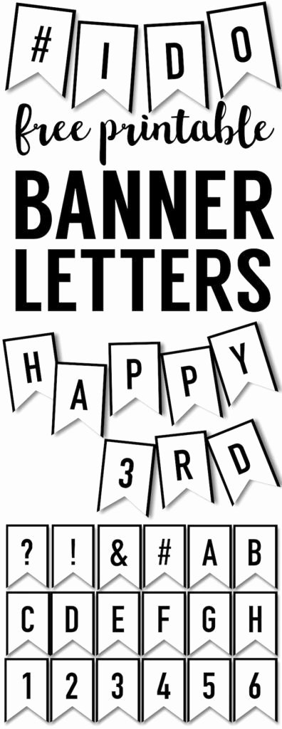 Banner Letters and Numbers Templates Lovely Banner Templates Free Printable Abc Letters