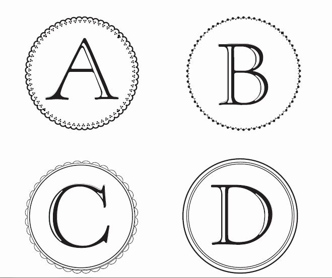 Banner Letters and Numbers Templates New Free Monogram Letters You Can and Use to Make