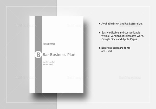 Bar Business Plan Template Beautiful Bar Business Plan Template 12 Free Word Excel Pdf