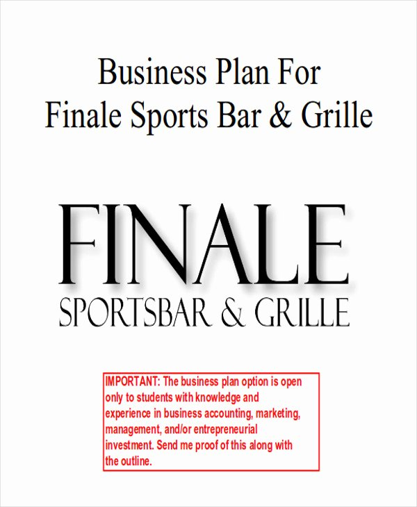 Bar Business Plan Template Unique 7 Sample Bar Business Plans