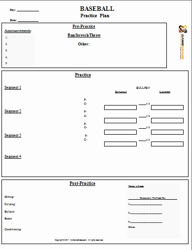 Baseball Practice Plan Template Lovely 28 Of softball Practice Plan Template Printable