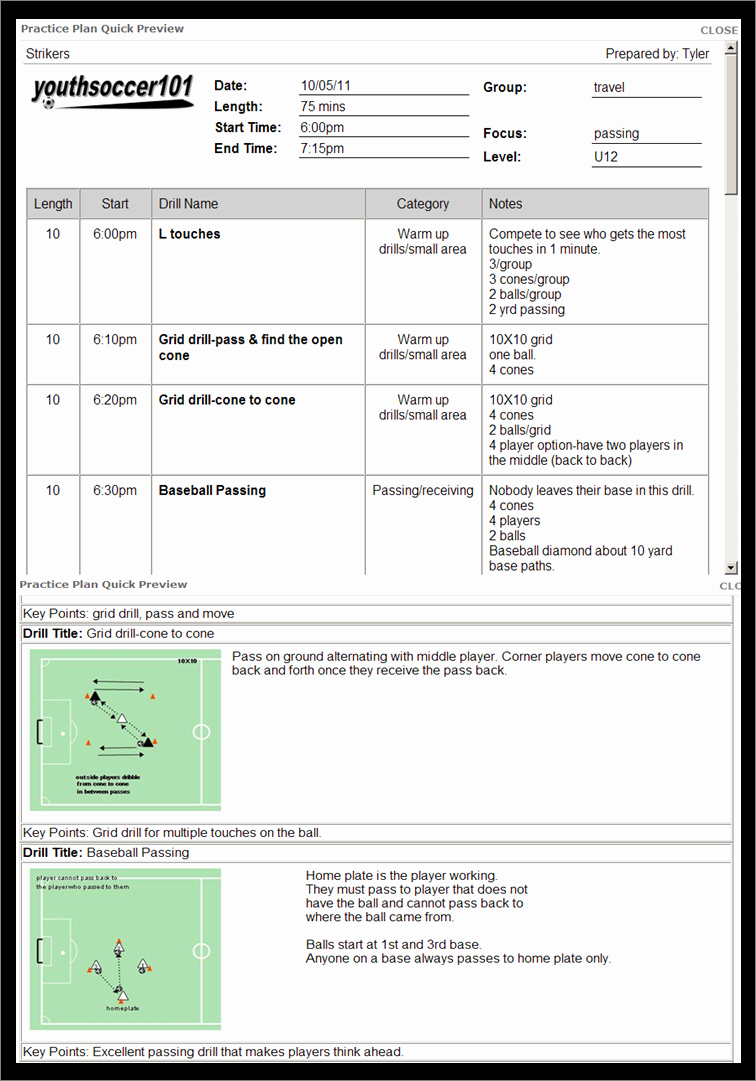 Baseball Practice Plan Template Unique 30 Of soccer Practice Plan Template