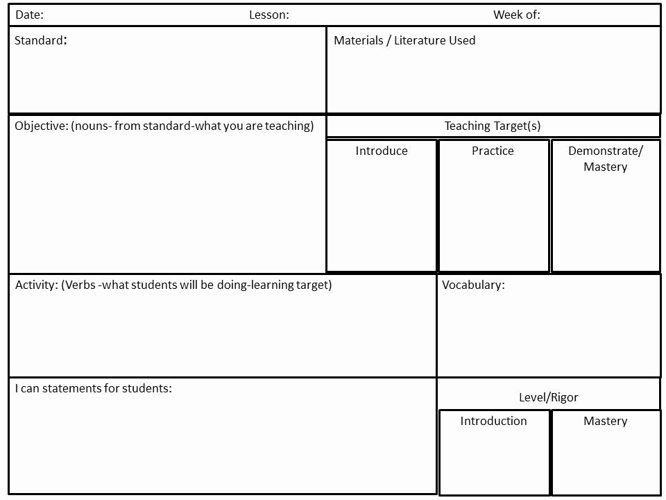 Basic Lesson Plan Template Awesome Mon Core Math Lesson Plan Template Cultivating