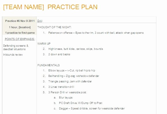 Basketball Practice Plan Template Beautiful Editable Basketball Practice Plan Template