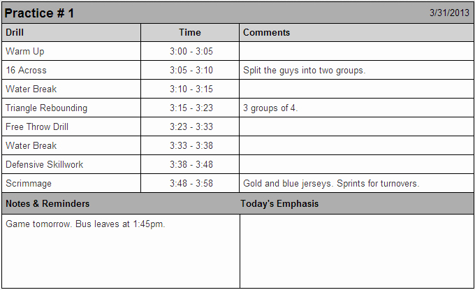 Basketball Practice Plan Template Fresh 7 Best Of Printable Basketball Practice Sheets