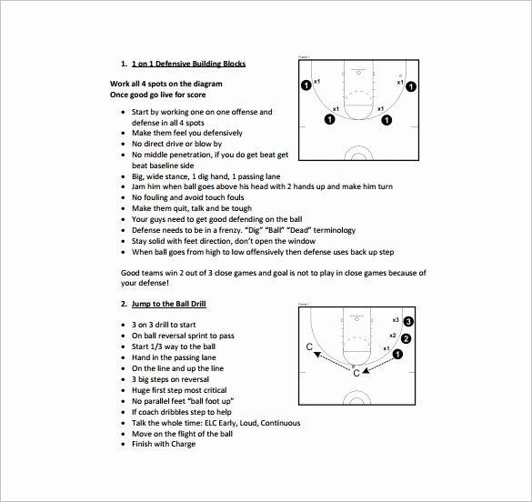 Basketball Practice Plan Template Fresh Basketball Practice Plan Template 3 Free Word Pdf