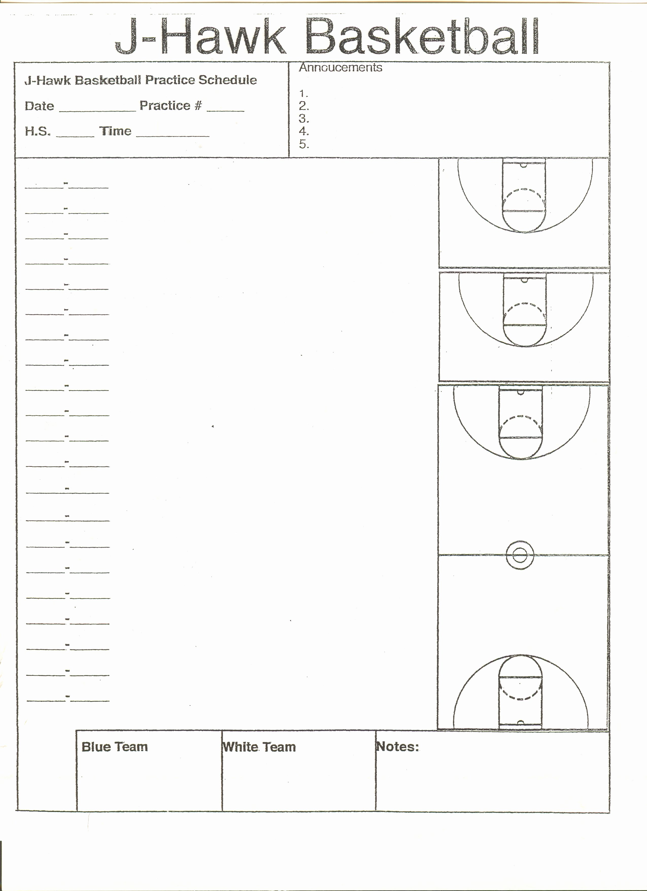 Basketball Practice Plan Template Fresh High School Basketball Practice Plan Template High