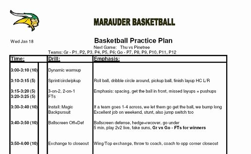 Basketball Practice Plan Template Pdf Awesome Best S Of Basketball Game Plan Template Basketball