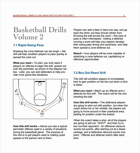 Basketball Practice Plan Template Pdf Luxury 11 Basketball Practice Plan Templates – Free Sample