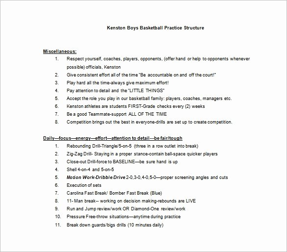 Basketball Practice Plan Template Pdf New Basketball Practice Plan Template 3 Free Word Pdf