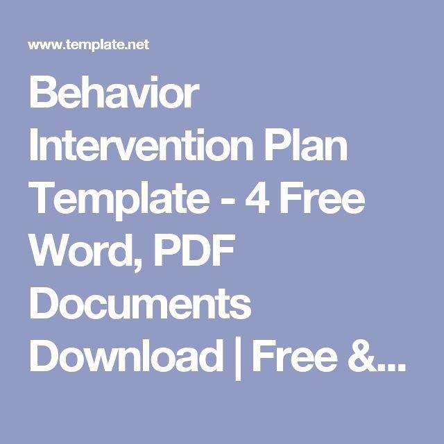 Behavior Intervention Plan Template Doc Best Of Best 25 Behavior Interventions Ideas On Pinterest