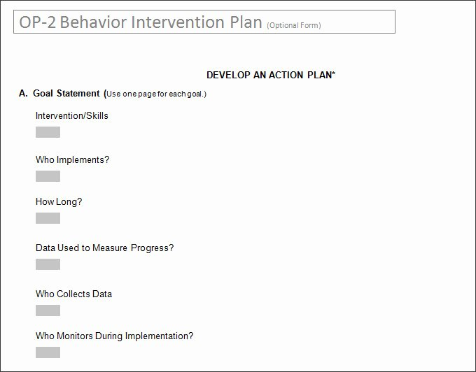 Behavior Intervention Plan Template Doc Luxury Behavior Intervention Plan Template 4 Free Word Pdf