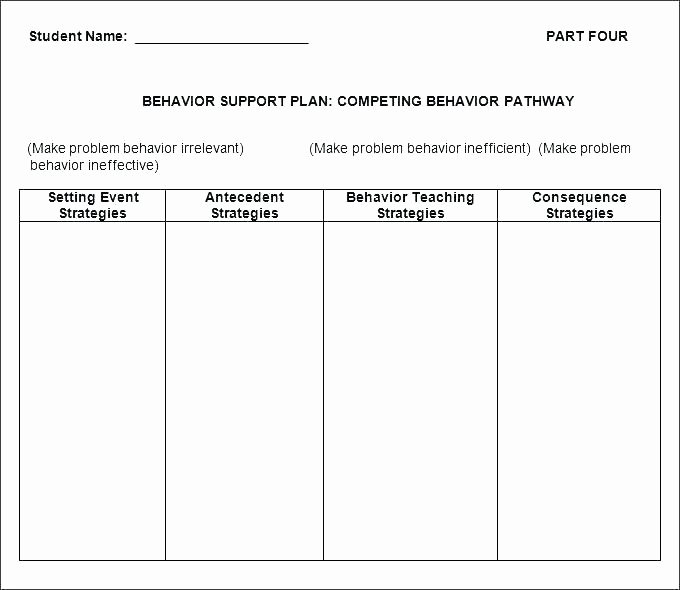 Behavior Intervention Plan Template Doc Unique Sample Behavior Intervention Plan Template