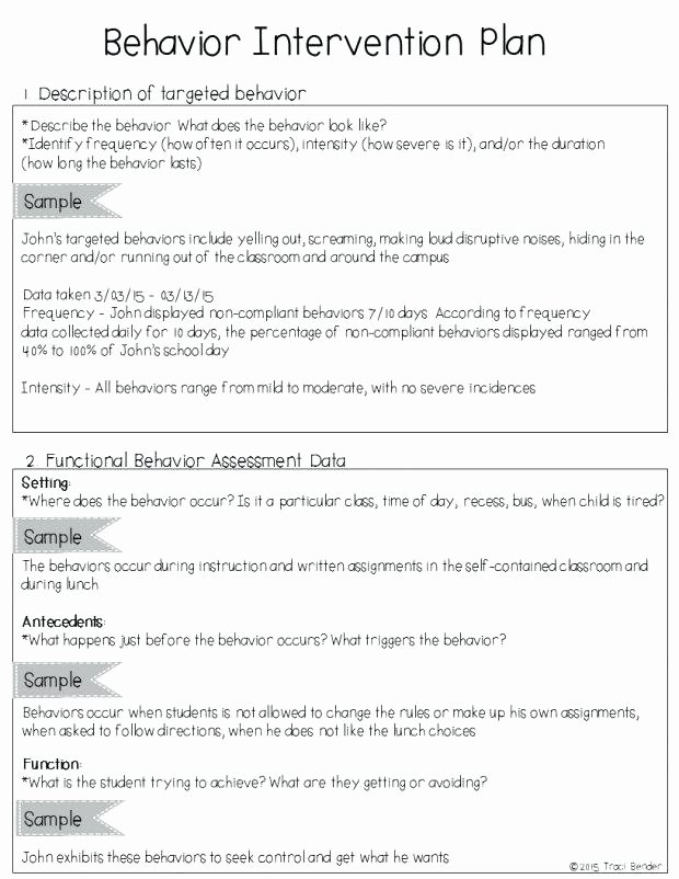 Behavior Intervention Plan Template Lovely Academic Intervention Plan Template for Capable Example