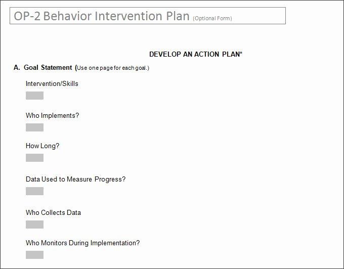 Behavior Modification Plan Template Fresh Behavior Intervention Plan Template 4 Free Word Pdf
