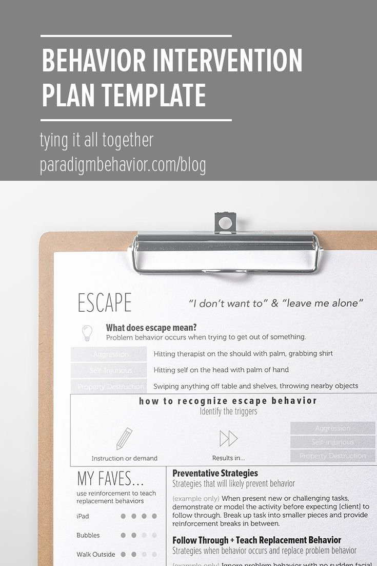 Behavior Modification Plan Template New 25 Best Ideas About Behavior Interventions On Pinterest