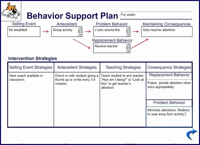 Behavior Support Plan Template Luxury 10 Behaviour Management Plan Examples Pdf