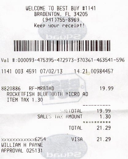 Best Buy Receipt Generator Beautiful