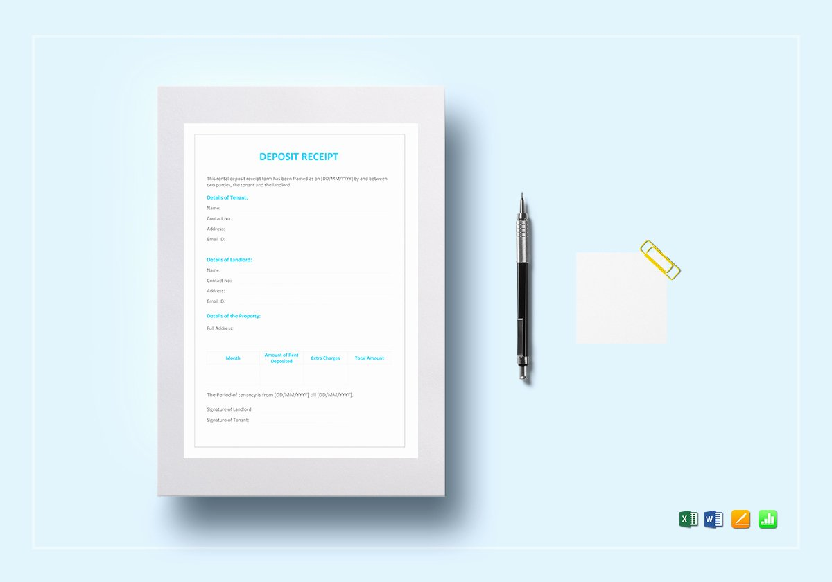 Best Buy Receipt Template Inspirational Deposit Receipt Template In Word Excel Apple Pages Numbers