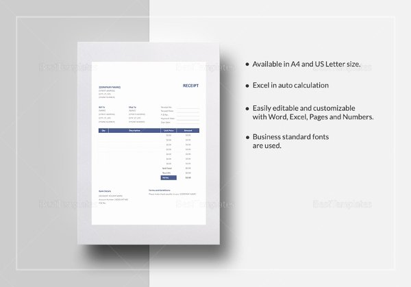 Best Buy Receipt Template Unique 17 Business Receipt Templates Doc Excel Pdf