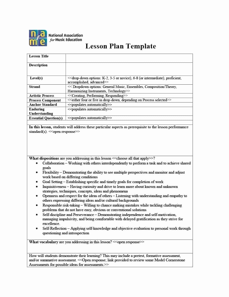 Best Lesson Plan Template Lovely Realistic Gallery Teks Lesson Plan Template