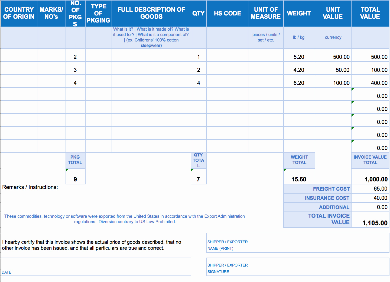 Bill Pay Template Excel Unique Free Excel Invoice Templates Smartsheet