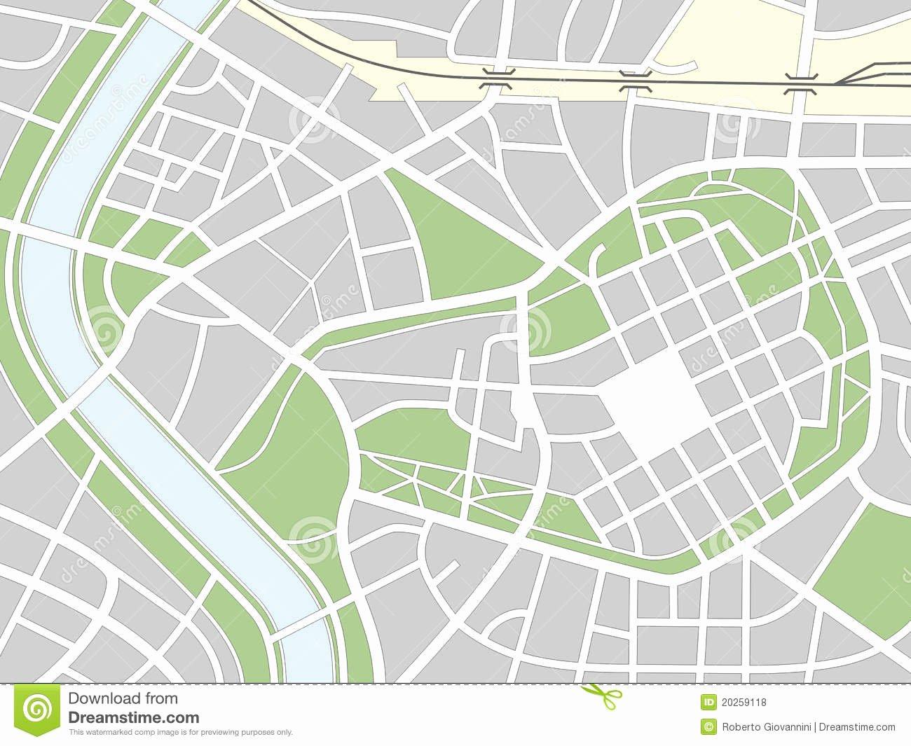 Blank City Map Template Awesome Mapa Sem Nome Da Cidade Ilustração Do Vetor Ilustração De