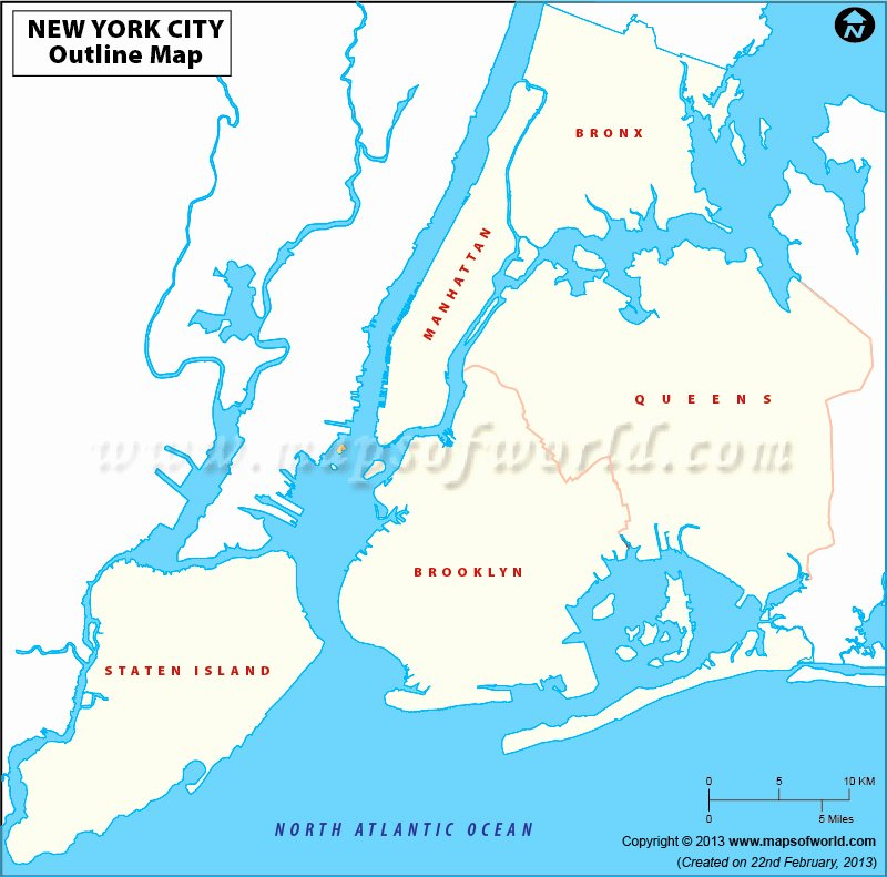 Blank City Map Template Fresh Blank Map Of New York City New York City Outline Map