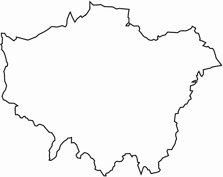 Blank City Map Template New Find the London Boroughs No Outlines Quiz by Smac17