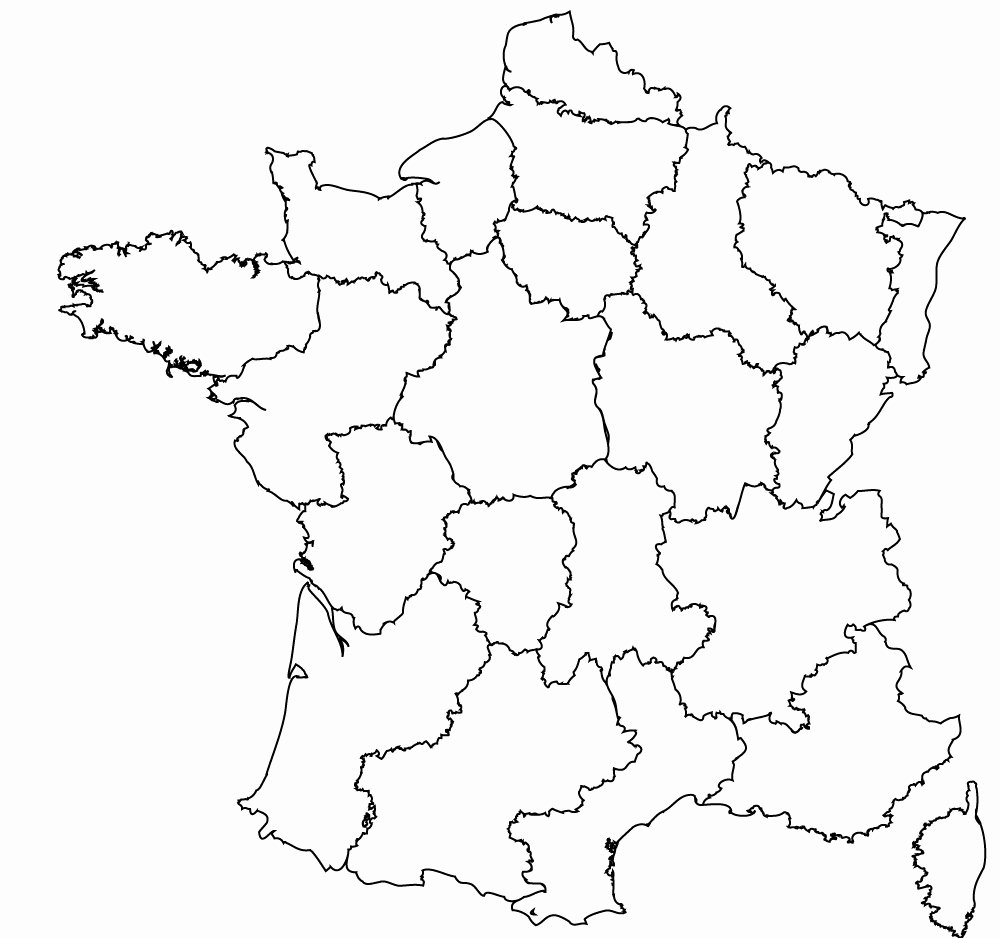 Blank City Map Template New Maps Of the Regions Of France
