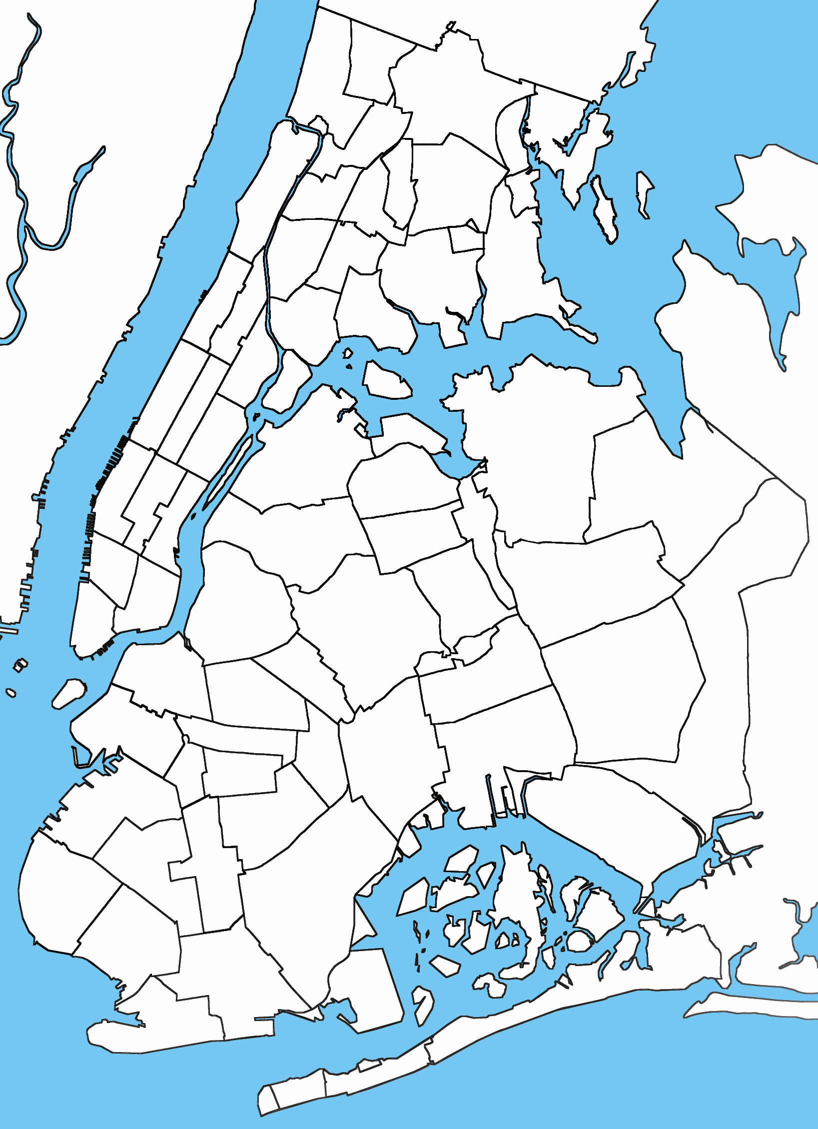 Blank City Map Template Unique Blank Usable Map Of Nyc Boroughs